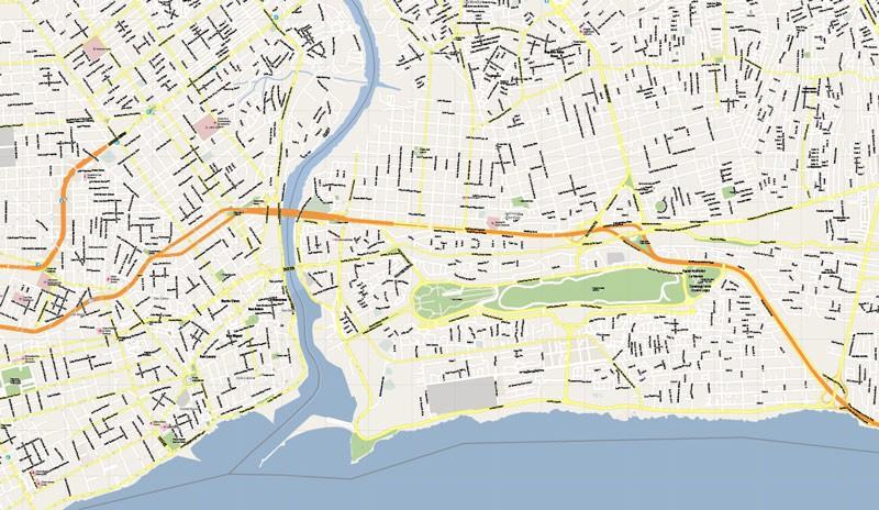 Street map Santo Domingo