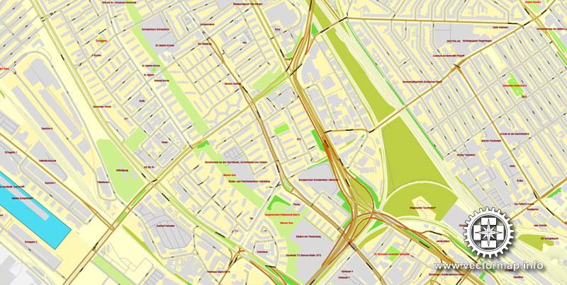 Street map Bremen Germany ai