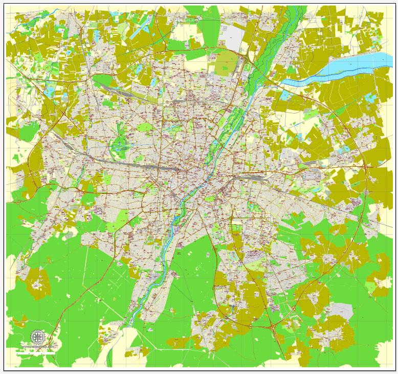 Urban plan Munich Munchen Germany pdf