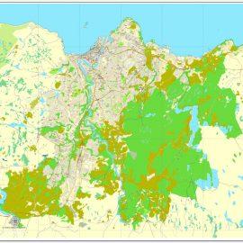 Pdf map Trondheim Norway