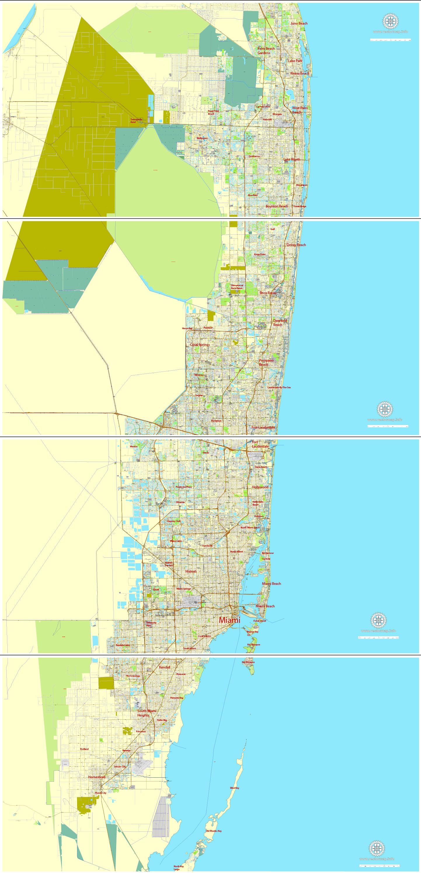Pdf map Miami Florida 4
