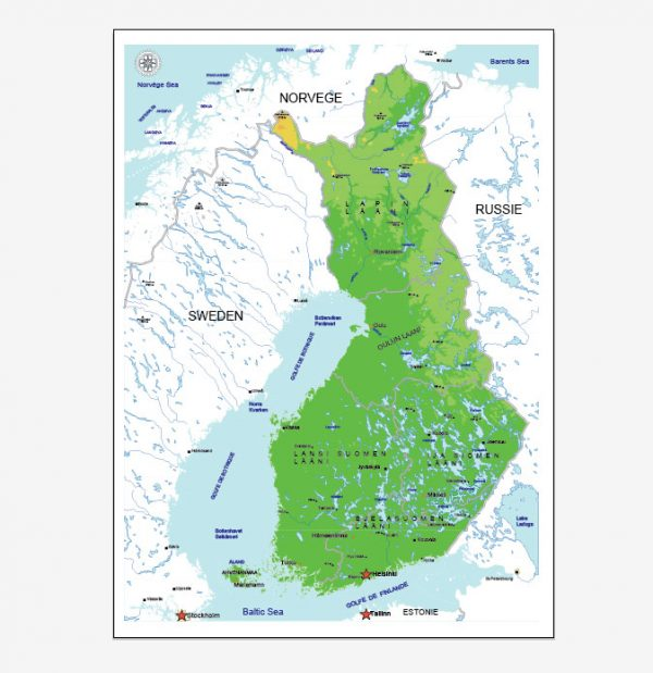 Free vector map finland