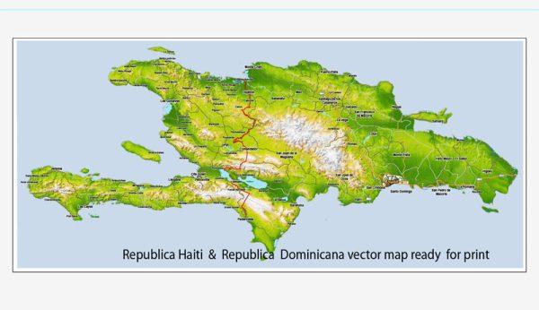 Vector Map Dominicana