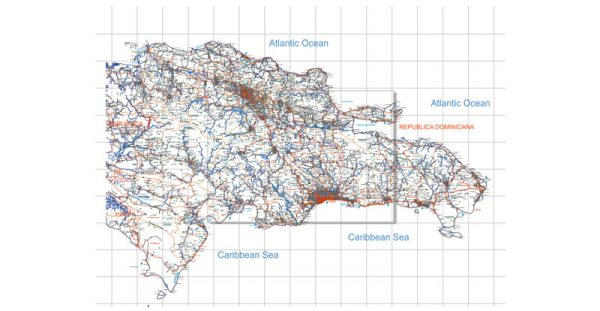 Map Republica Dominicana DXF & DWG for AutoCAD