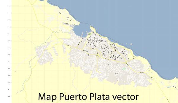 Map Puerto Plata Vector