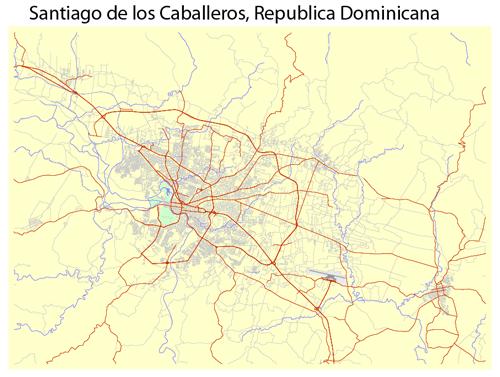 Map Santiago de Los Caballeros