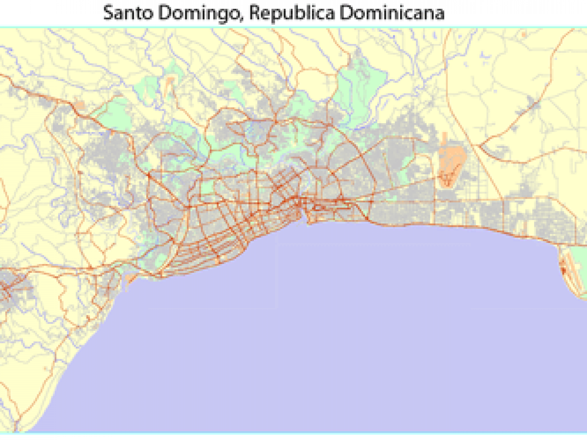 City Map Santo Domingo Grande En Adobe Illustrator