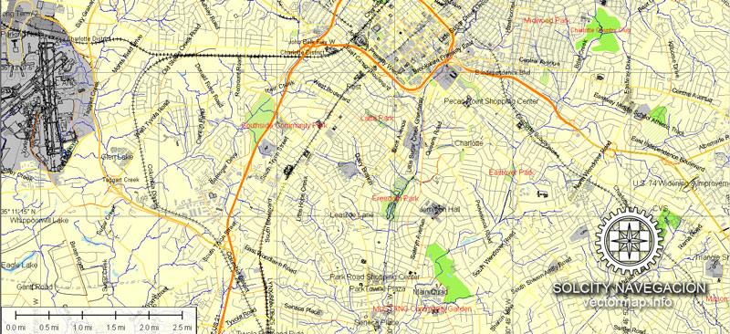 Pdf map Charlotte North Carolina