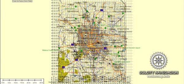 Columbus Map vector City Plan editable Atlas 25 parts Street Map Adobe Illustrator