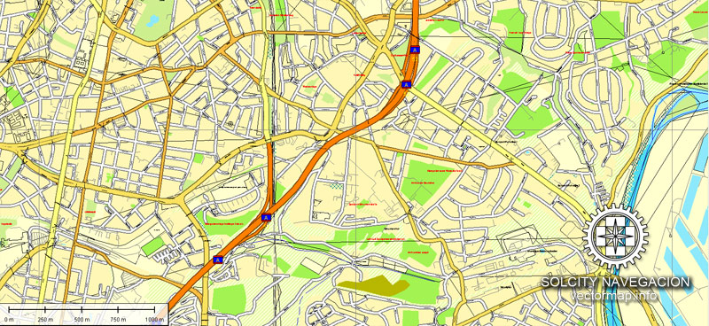 Urban plan Essen Germany 25