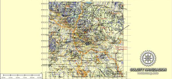 Florentia Florence Firenze Map printable vector City Plan, full editable, Adobe Illustrator, Atlas 25 parts Street Map
