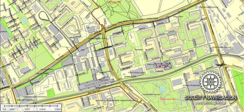 City plan Leipzig Germany AI