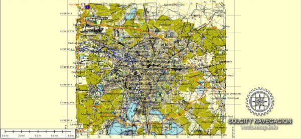 Leipzig Map Vector Germany printable City Plan full editable Street Map Adobe Illustrator