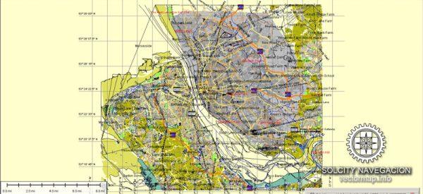Liverpool Map Vector Atlas 25 parts *.AI UK City Plan printable editable Adobe Illustrator Street Map