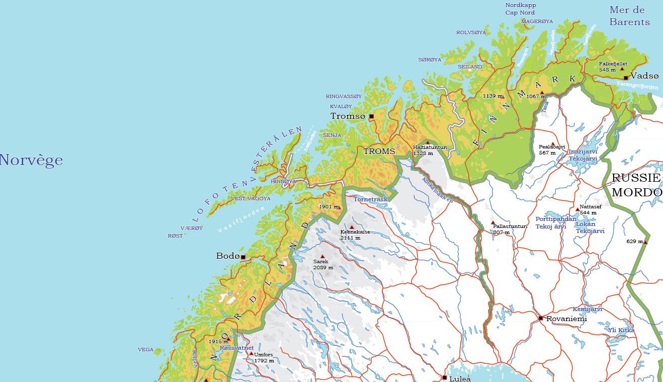 City map Norway Admin
