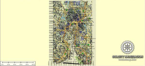 Oslo Vector Map Norway printable City Plan full editable Adobe Illustrator Street Map