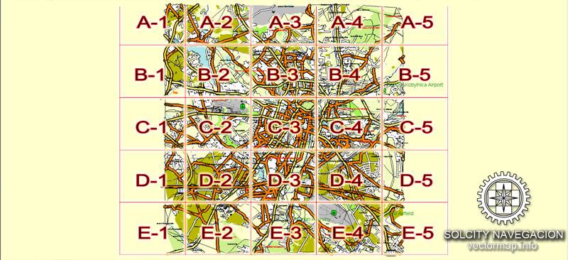 Street map Poznan Poland