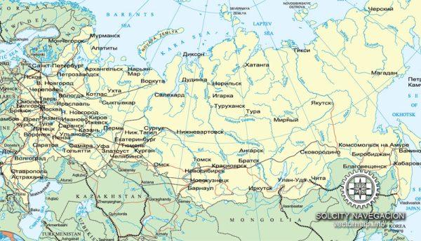 Free vector map Russia Adobe Illustrator