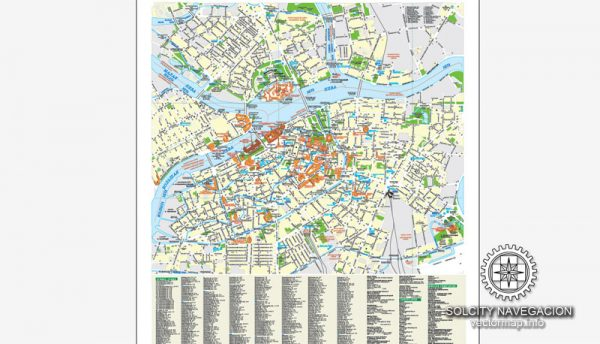 Saint Petersburg Map Vector City Plan Russia, printable Street Map editable Corel Draw Schema-1