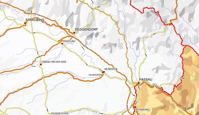 Street map full Italy Roads CDR