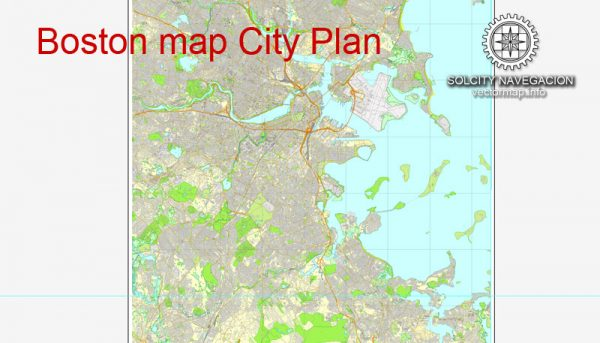 Boston printable map