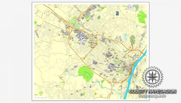 Vector map Albany, New York, US printable vector street City Plan map, full editable, Adobe Illustrator
