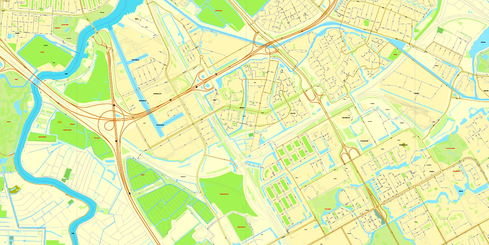 Street map Amsterdam Netherlands PDF