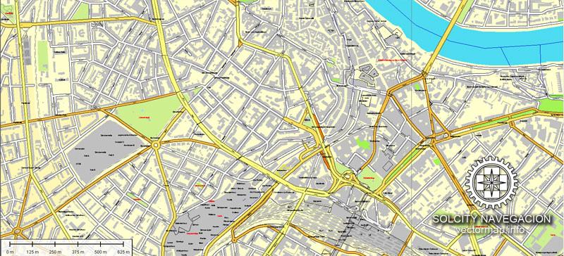 Street map Basel Switzerland