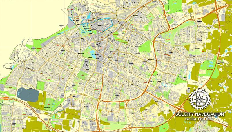 Street map Copenhagen Malmo Kobenhavn