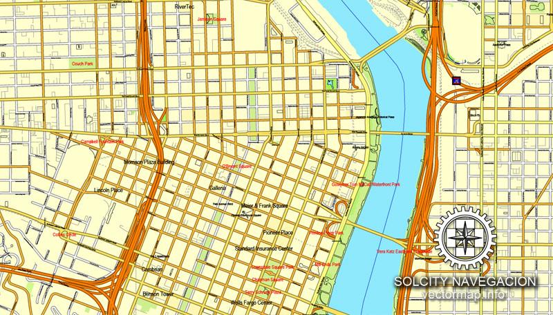 Street map Salem Oregon PDF