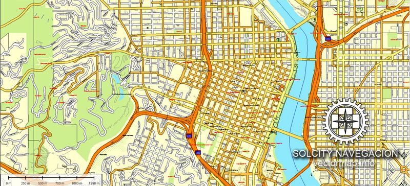 Street map Portland Oregon