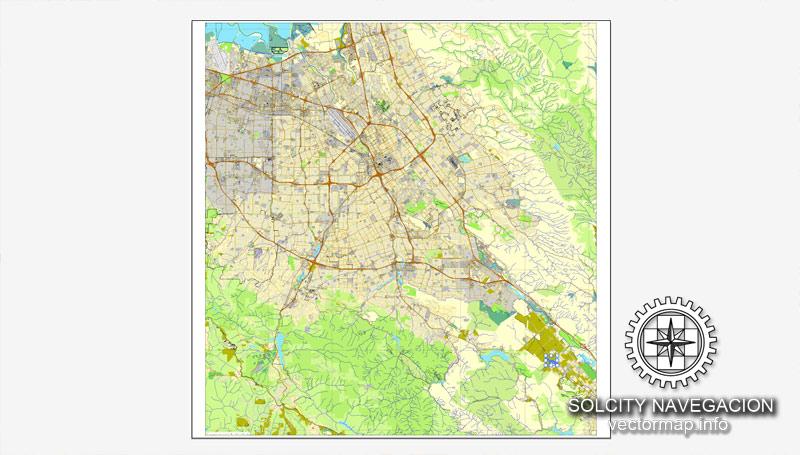 Urban plan San Jose California