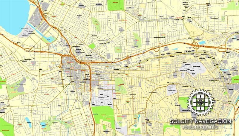 Street map Syracuse New York v209