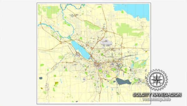 Map vector Syracuse, New York, US printable vector street City Plan map, full editable, Adobe Illustrator
