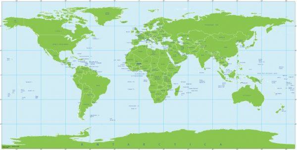 Free vector map World Mercator 2, Adobe Illustrator, download now maps vector clipart >>>>> Map for design, projects, presentation free to use as you like.