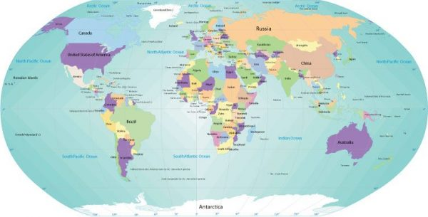 Free vector map World Robinson Projection, Adobe Illustrator, download now maps vector clipart >>>>> Map for design, projects, presentation free to use as you like.