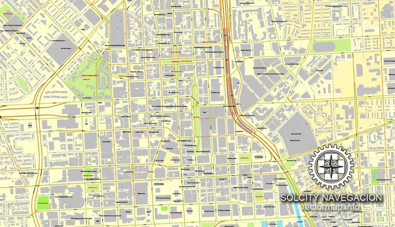 Street map Baltimore Maryland
