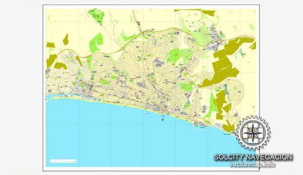 Map vector Brighton, England, UK Great Britain, printable vector street City Plan map, full editable, Adobe Illustrator
