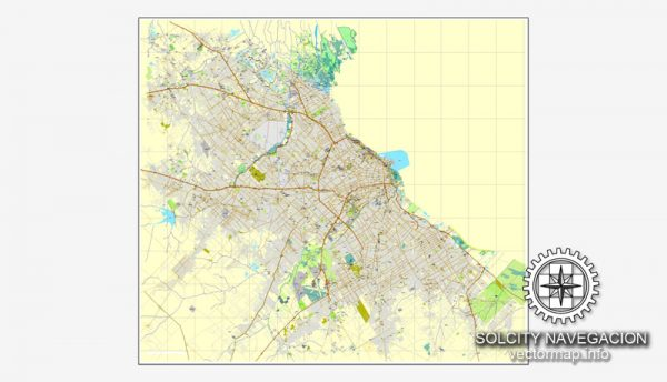 Map vector Buenos Aires, Argentina, printable vector street City Plan map, full editable, Adobe illustrator Map for design, print, arts, projects, presentations, for architects, designers and builders