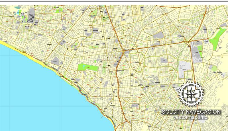 Urban plan Lima Peru 2 parts