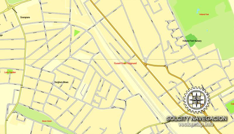 City map London 4 parts pdf