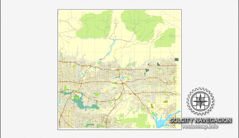 Street map Los Angeles Grande