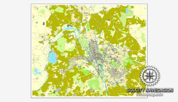 Oxford Vector Map England UK printable City Plan map editable Adobe Illustrator Street Map