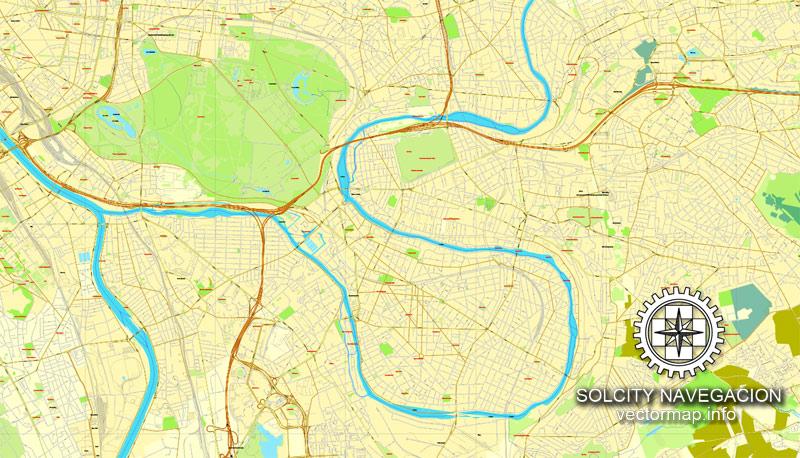 Pdf map full Paris France 17 AI