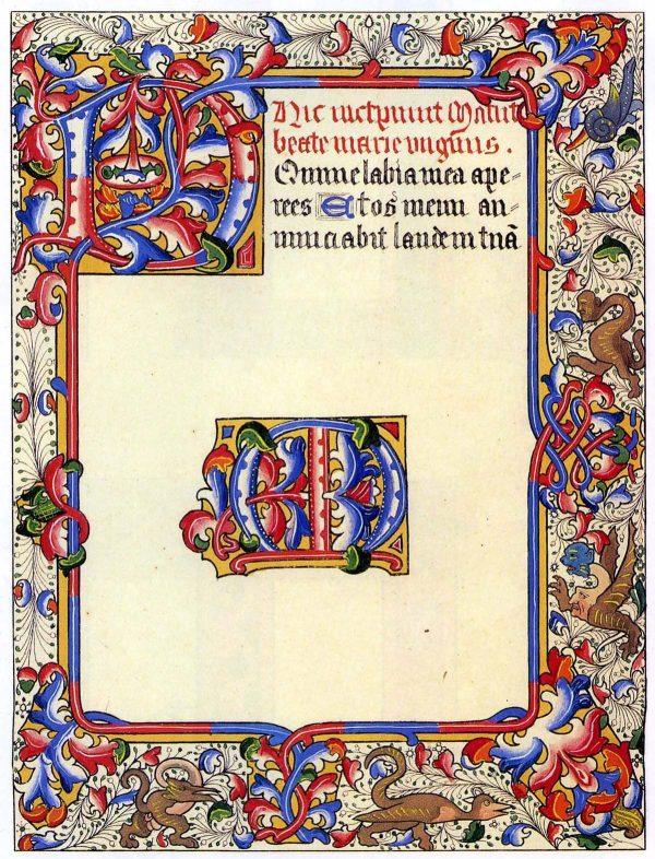 illuminated manuscript template