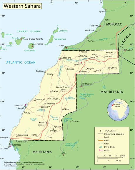 Free vector map Western Sahara, Adobe Illustrator, download now maps vector clipart >>>>> Map for design, projects, presentation free to use as you need.