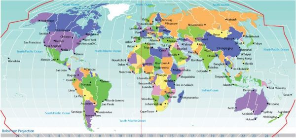 Free vector map World Time Zones Political map 2, Adobe Illustrator, download now maps vector clipart >>>>> Map for design, projects, presentation free to use as you need.
