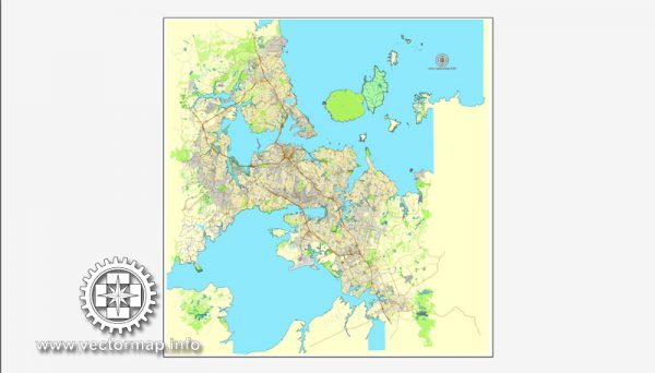 Map vector Auckland, New Zealand, printable vector street City Plan map, full editable, Adobe illustrator Map for design, print, arts, projects, presentations, for architects, designers and builders