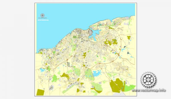 Map vector La Habana, Cuba, calle vectorial imprimible mapa Plan de la ciudad, lleno editable, Adobe Illustrator, vector completo Map for design, print, arts, projects, presentations, for architects, designers and builders