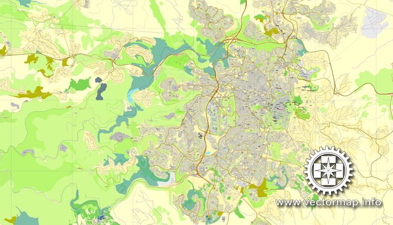 Street map Jerusalem Israel ENG PDF